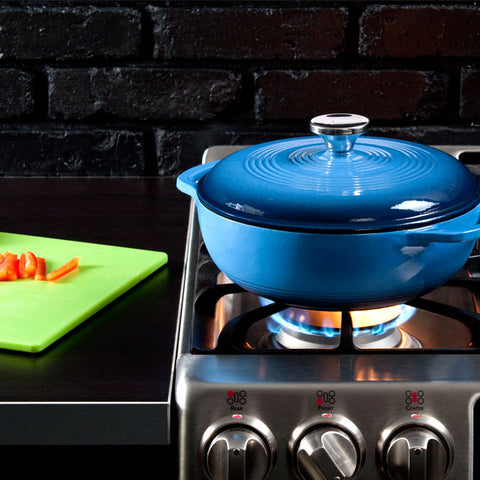 Enamel Dutch Oven 3 qt. (Blue)