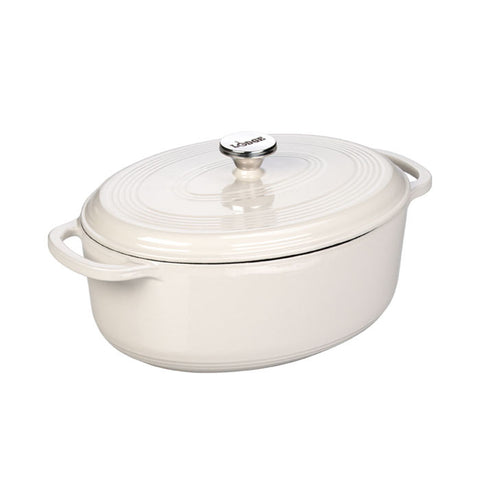 Enamel Oval Dutch Oven 7 qt. (White)