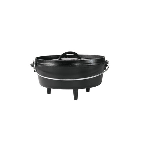 10 Inch / 4 Quart Camp Dutch Oven, 3.5 inch depth