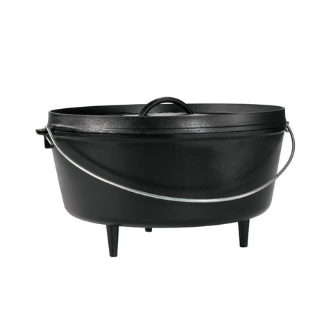 14 Inch / 10 Quart Deep Camp Dutch Oven, 5 inch depth