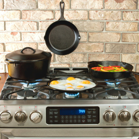 Lodge Logic Cast Iron Cookware Set, 5-Piece