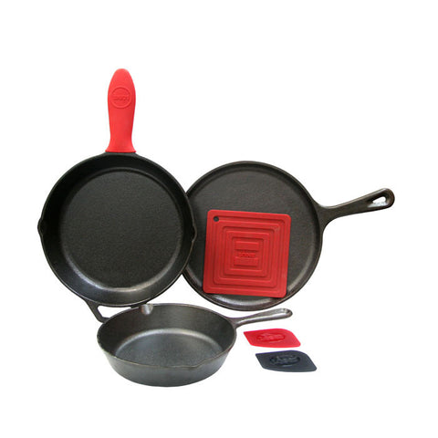 Lodge Essential Skillet 6 Piece Set
