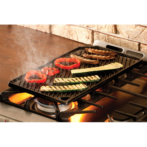 Cast Iron Reversible Grill/Griddle 16.75 Inch x 9.5 Inch