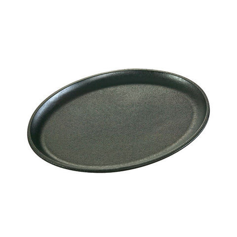 Cast Iron Oval Griddle 13.88 x 10 Inch