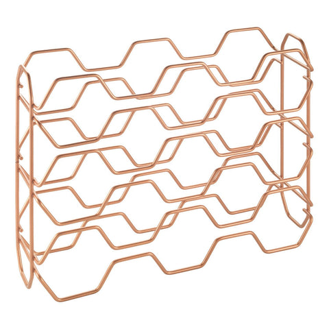 Copper Hexagon Bottle Rack