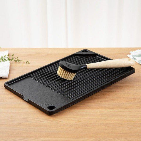 Lodge Korean Samgyupsal Grill & Cast Iron Scrub Brush