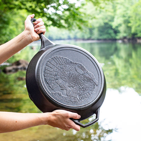 Wildlife Series™ 13.25 Inch Cast Iron Turkey Skillet