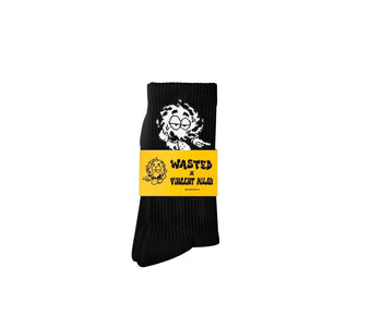 Wasted Paris CHAUSSETTES WASTED X VINCENT MILOU Schwarz Socks - SUPERCONSCIOUS BERLIN