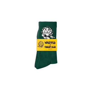 Wasted Paris CHAUSSETTES WASTED X VINCENT MILOU VERTE Socks - SUPERCONSCIOUS BERLIN