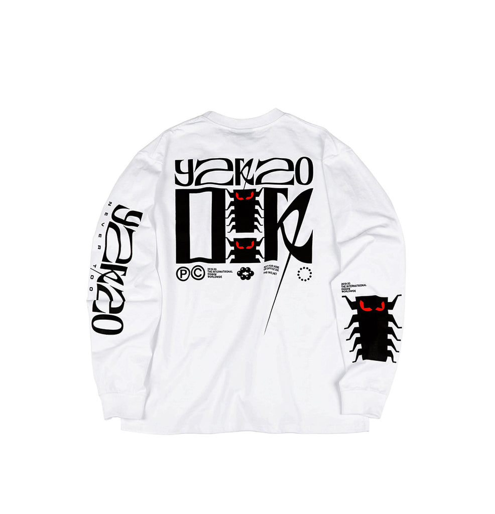 Y2K20 L/S White, T-Shirts, The Internatiiional, SUPERCONSCIOUS BERLIN- SUPERCONSCIOUS BERLIN