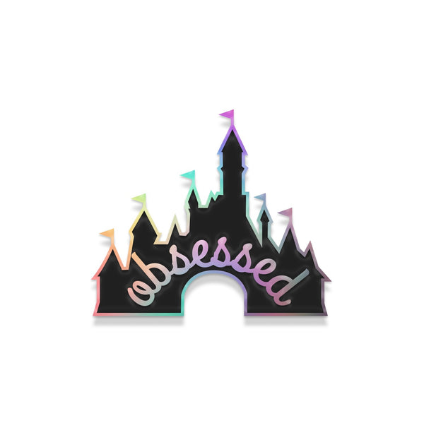 Jolly DisneyFreak pin- rainbow metal with black