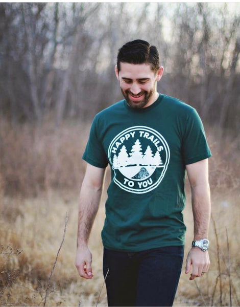 Happy Trails- green tee