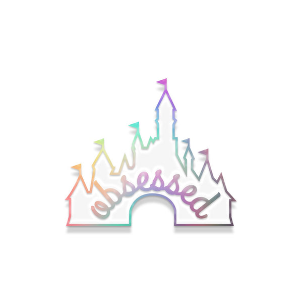 Jolly DisneyFreak pin- rainbow metal with white
