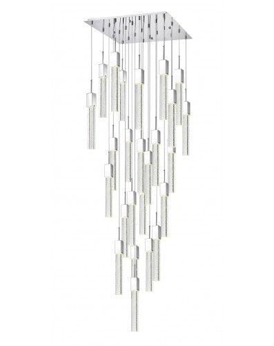 KAY - LED LIGHT CASCADING - SQUARE CRYSTAL PENDANTS