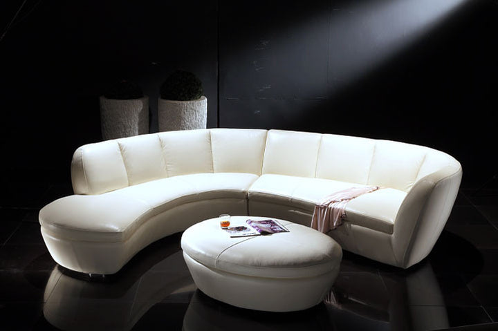 Crescent Leather Sectional - Euro Living Furniture