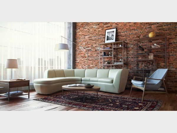 Crescent Leather Sectional