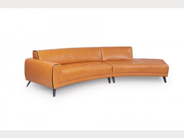 Crescent Leather Sofa Sectional