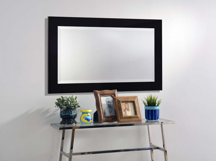 Black Frame Mirror - Euro Living Furniture