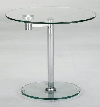 8090 Round Glass Lamp Table - Euro Living Furniture