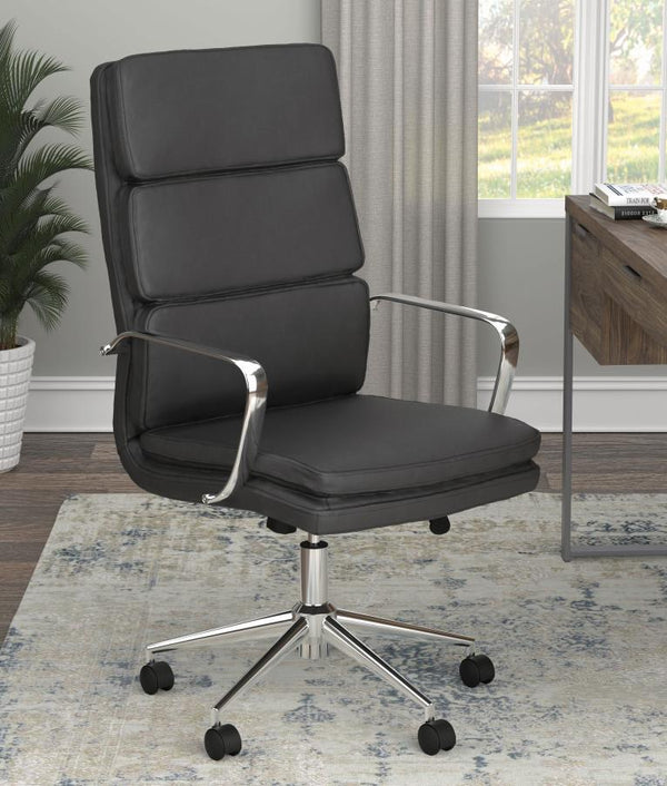 Mid Century Mod Office Chair - Black