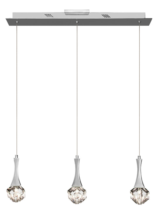 Rockne™ – Model 83131 3-Light Mini Pendant Chandelier - Euro Living Furniture