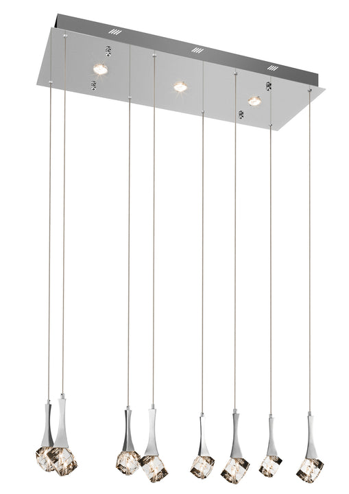 Rockne™ – Model 83133 8+3-Light Mini Pendant Chandelier - Euro Living Furniture