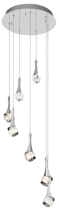 Rockne™ – Model 83134 7-Light Spiral Mini Pendant Chandelier - Euro Living Furniture