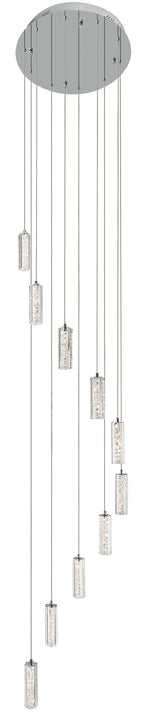 Neruda™ – Model 83404 10-Light Spiral Mini Pendant Cluster - Cool White LED - Euro Living Furniture
