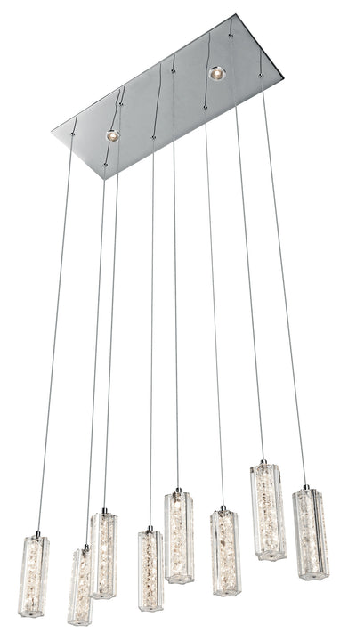 Neruda™ – Model 83422 8 + 2-Light Mini Pendant Linear - Euro Living Furniture