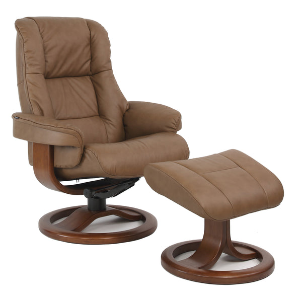 Loen R Leather Reclining Chair in Cappuccino