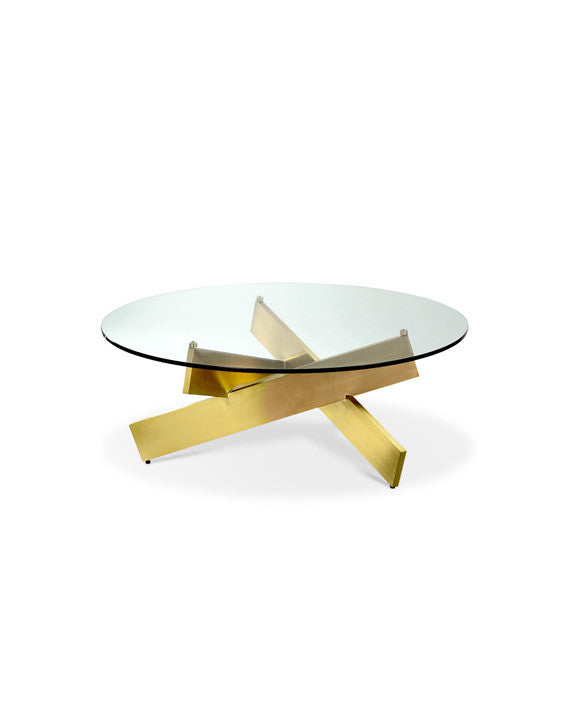 Bella Coffee Table - Gold - Euro Living Furniture