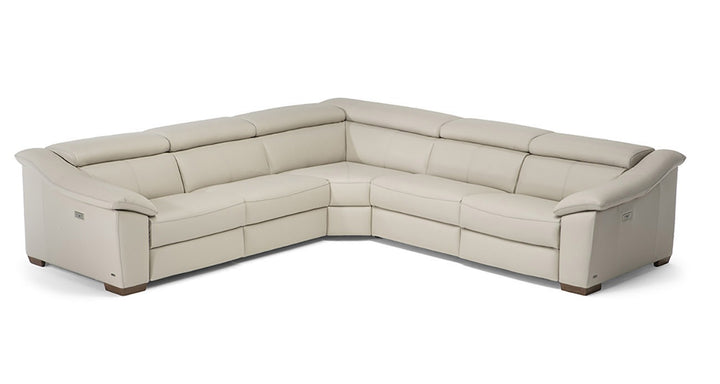 ZION 5pc SECTIONAL w/ 2 Recliners by NATUZZI