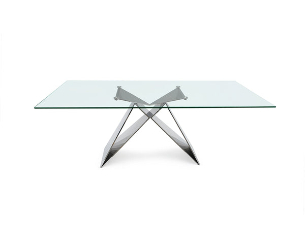 "Effect 86"" Glass Dining Table"