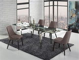 Claudia Extendable Dining Table - Euro Living Furniture