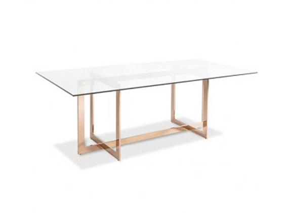 CORT DINING TABLE - ROSE GOLD 79""