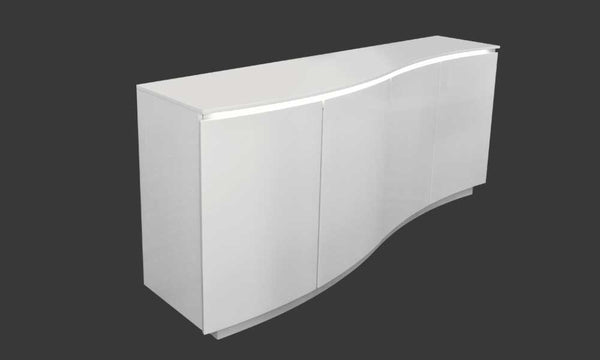 Wave White Lacquer Buffet