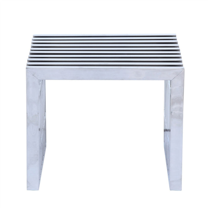 Zeta Stainless Steel Bench - Euro Living Furniture
