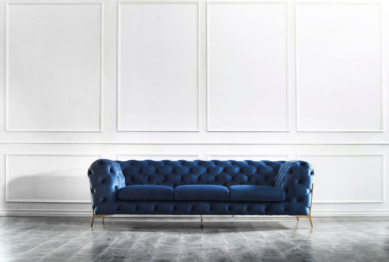 Glam Blue Sofa