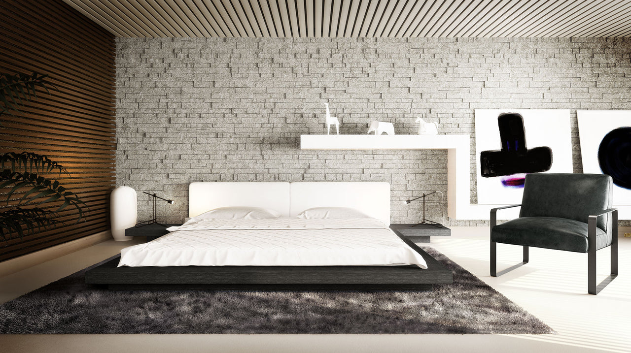 Worth Bed w/ Nightstands - Euro Living Furniture