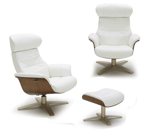 Kara Lounge Chair in White