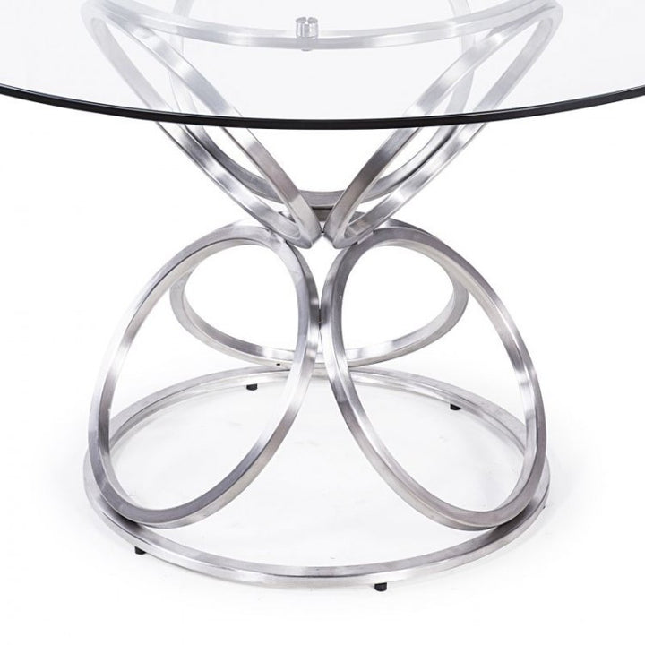 "Brooke 48"" Round Dining Table - Euro Living Furniture"