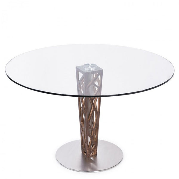 "Crystal 48"" Round Dining Table"
