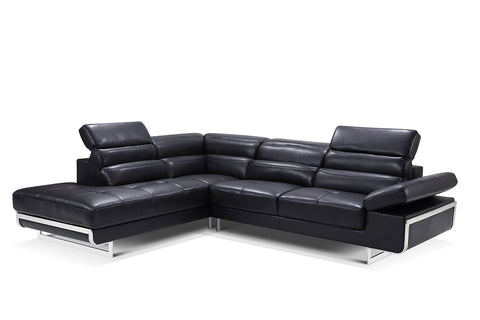 02347 Black Sectional  sc 1 st  Euro Living Furniture : leather sectional dallas - Sectionals, Sofas & Couches