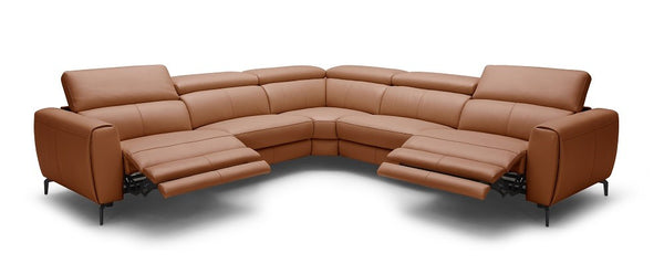 London Motion Sectional In Rust