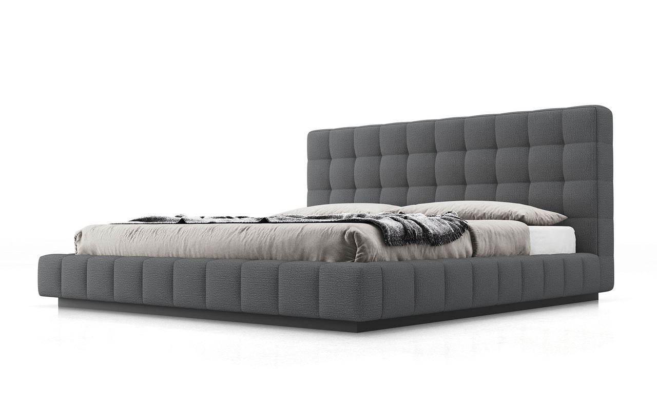 Thompson Bed - Carbon Gray Fabric