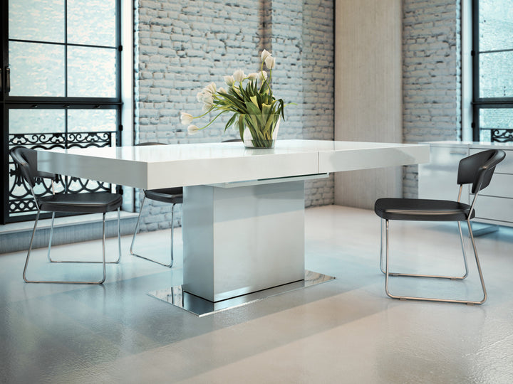 Astor Dining Table - White - Euro Living Furniture