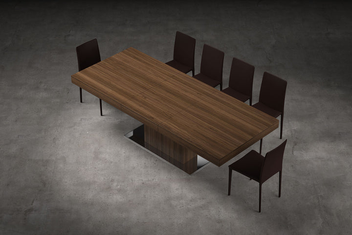 Astor Dining Table - Walnut - Euro Living Furniture