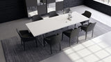 "Curzon White Lacquer Dining Table - 87"" or 102"""