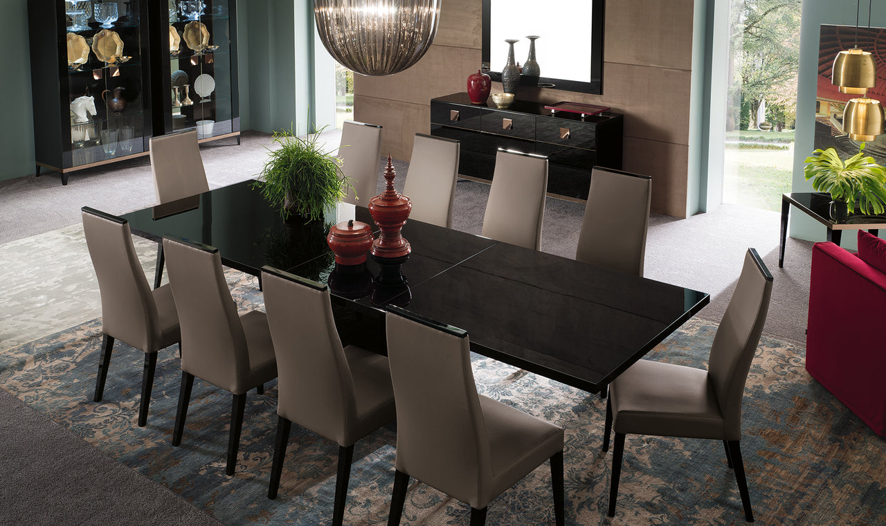 Glamour Extendable Large Dining Table Set