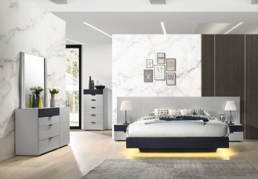 Mazule Platform Bedroom Set with LED